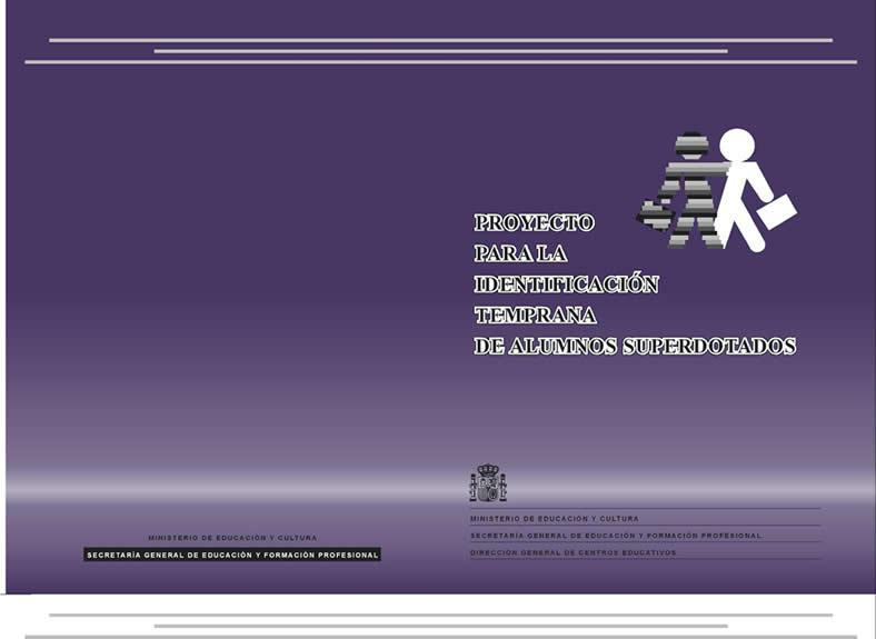 Cubierta del libro Proyecto de Investigación Temprana editado por el MEC