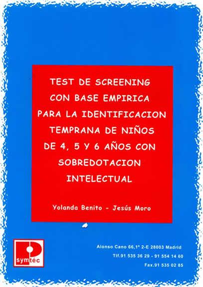 Imagen del Libro del Test de Screening de Identificación Temprana