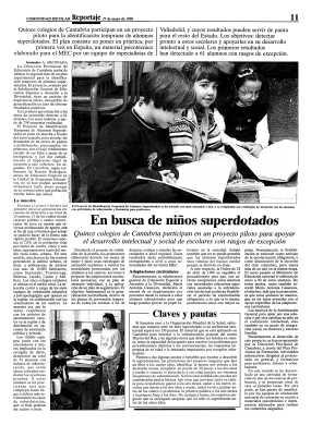 Artículo en la Revista Comunidad Escolar 1998.